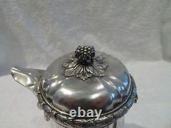Gorgeous late19th c french sterling silver coffee pot Louis XVI st Boin Taburet