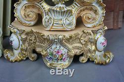 Jacob Petit XIX antique French Louis VX Clock paris porcelain