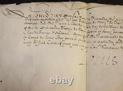 KING LOUIS XIII RARE AUTOGRAPH DECEMBER 1614 LOUIS XIII König von Frankreich