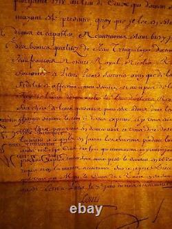 KING LOUIS XV AUTOGRAPH DESIGNATION OF CONSULS OF d'UZES (LANGUEDOC) 1717