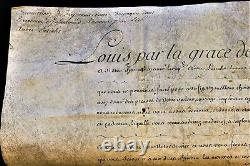KING LOUIS XV AUTOGRAPH ON PARCHMENT WITH WAX SEAL 1773 König von Frankreich