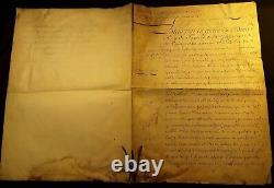 KING LOUIS XV Signed REDISCOVERED PATENT Ennoblement Coat of Arms Painted 1755