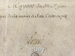 King Louis XVI Autograph Document On Parchment In Frame Signed On May 9, 1783
