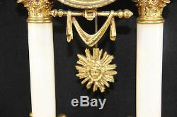 LOUIS XVI onyx marble clock set candelabras 1935 French antique