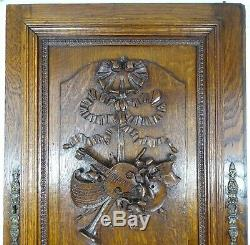 Large French Antique ArchitecturalCarved Solid Oak Wood Door Panel Louis XVI