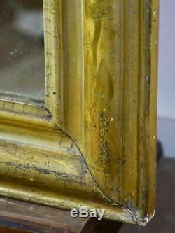Large antique French Louis Philippe mirror with gilded frame 29½ x 48¾