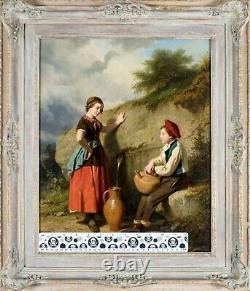 Louis Simon Lassalle (French, 1810-1870) oil painting antique