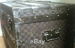 Louis Vuitton trunk Vintage steamer trunk Vintage trunk 19th century Coffee