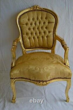 Louis XV Arm Chair French Style Chair Vintage Furniture Gold New Model