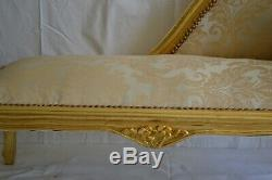 Louis XV Bench French Style Vintage Furniture Gold