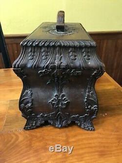 Louis XV French Provincial Style, Fleur-de-lis Rosewood Bombe Liquor Chest