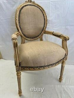 Louis XVI Arm Chair French Style Chair Vintage Furniture