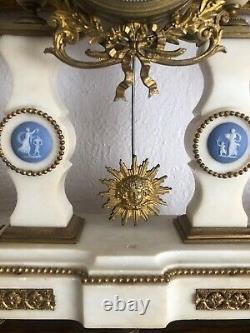 Louis Xvi French Marble Clock Wedgwood