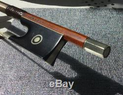 Nice antique french Violin Bow By Louis Morizot Frères Nickel Mounted