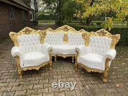 Old French Louis XVI Baroque 2 Chairs Worldwide Shipping
