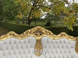 Old French Louis XVI Baroque Sofa + 4 Chairs Worldwide Shipping