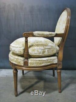 PAIR Baker / Knapp & Tubbs Louis XVI French oclassic Stye Oval Back Armchairs