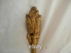 PAIR OF ANTIQUE FRENCH GILT BRONZE CURTAIN TIEBACKS, LOUIS 16 STYLE, LATE 19th