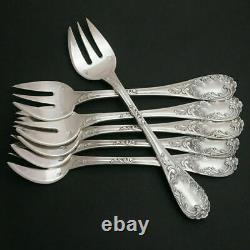 PUIFORCAT Antique French Sterling Silver 12pc Oyster Fork Set, Louis XV Pattern