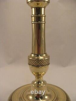Pair Antique French Bronze Brass Candlesticks Louis VI period 18th. Century