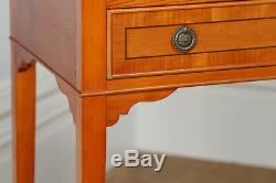 Pair French Louis Style Yew Wood Bedside Cabinets Cupboards Night Stands Tables