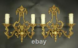 Pair Of Sconces Cage, Louis XV Style Bronze French Antique