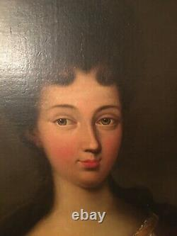 Pair of Antique French Oil on Canvas Portraits. Louis Hersent