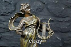 Pair of Antique French Spelter Figures by Louis Moreau