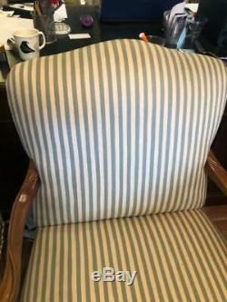 Pair of Drexel Heritage French Louis XV Style Wide Seat Bergere Lounge Chair