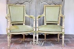 Pair of Louis XVI / Directoire armchairs