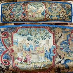 RARE 74 x 27 Antique French Louis XIV Point de Saint-Cyr Needlework Tapestry