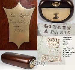 RARE c1742 French Military Officer's Vanity Kit, Named Advisor to King Louis XV