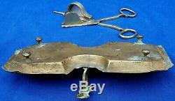 Rare 17th century French Louis 14th brass candle snuffer & tray circa 1700