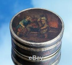 Rare Georgian 18th Century French Louis XV Vernis Martin Gold Mounted Snuff Box