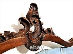 Rococo Shell louis XV wood carving pediment Antique french architectural salvage