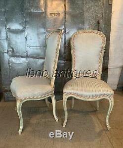 STUNNING EARLY 1900s SET OF 10 DINING CHAIRS FRENCH LOUIS XV STYLE. MUST SEE