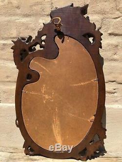 SUMMER SALE! A French Louis XV/ Gothic Walnut Griffin/Gargoyle/ Dragon Mirror