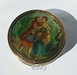 SUPERB FRENCH Louis XV VERNIS MARTIN 18CT GOLD MOUNTED faux TORTOISE SNUFF BOX