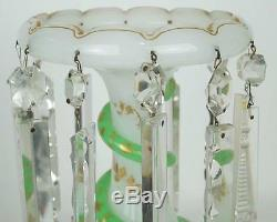 Saint Louis Attr. Glass Lusters (Lustres) Candle Holders