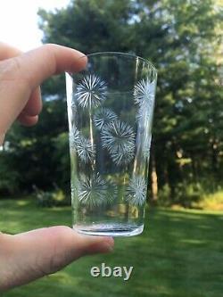 Set (5) Antique ST LOUIS Crystal Brandy Tumblers Canada #2349 Cut Snowflake Star