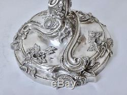 Sterling silver French Candelabra style Louis XV Rocaille candlesitck