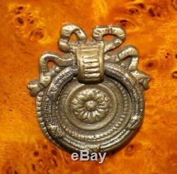 Superb Bronze Mounted French Louis XVI Lingerie Chest Dresser Burled Walnut