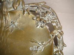 Theophile Louis Hingre French 1855-1911 Aesthetic bronze devil Tray Vide Poche