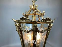 Unique Lantern in French Louis XVI style. Worldwide shipping