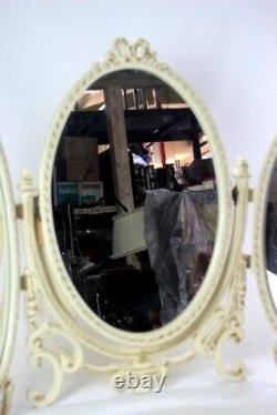 Vintage French Louis Style Dressing Triple Table Mirror 6413
