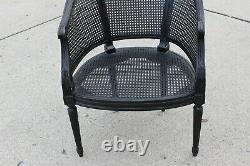 Vintage French Louis XVI Barrel Cane Side Chair