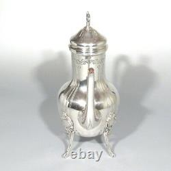 Vintage French Silver Plate Coffee Pot, Rococo Louis XV Style, Signed Udner Lyon