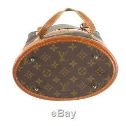 Vintage Louis Vuitton Monogram LV USA French Co. Bucket PM Hand Bag. NFV6092