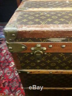Vintage Louis Vuitton steamer trunk Greta Garbo Style Model