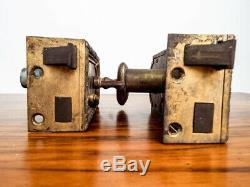 Vintage Louis XVI French Locks Brass Door Knobs Hardware Gant Chandler Estate